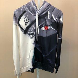 Anime Hooded Sweatshirt Kangaroo Pocket (M)